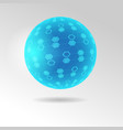 spherical tesseract shape vector image vector image