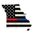 state missouri police and firefighter support vector image vector image
