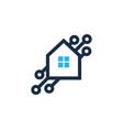 tech house logo icon design vector image vector image