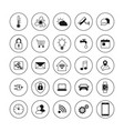technology icons smart house icons set internet vector image vector image