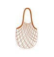textile string reusable shopping bag for zero vector image vector image