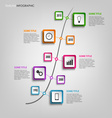 Time line info graphic with colored squares design vector image vector image