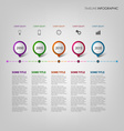 Time line info graphic with design pointers vector image vector image