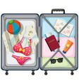 travel element in the luggage vector image vector image