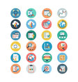 Universal Web Flat Colored Icons 2 vector image vector image
