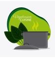 Vegetarian cuisine organic and healthy food design vector image vector image