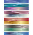 wavy pattern banner set vector image