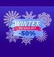 winter big sale 2017 -50 off vector image vector image