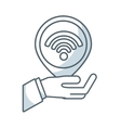 wireless signal waves icon vector image