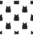 bulletproof vest icon in black style isolated on vector image