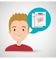man tax payment report vector image