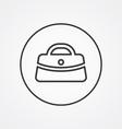 purse outline symbol dark on white background logo vector image