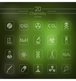 Set of chemistry icons vector image
