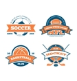 american football basketball soccer hockey vector image