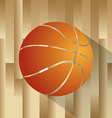 an isolated basketball ball on a wooden field vector image