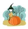 Autumn theme Halloween vector image vector image