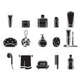 Bathroom equipments set monochrome vector image