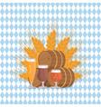 beer digustation at octoberfest vector image