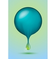 blue sphere with a green drop vector image vector image