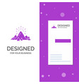 business logo for hill landscape nature mountain vector image vector image