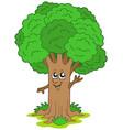 cartoon tree character vector image