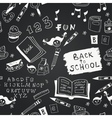 chalkboard school seamless pattern vector image vector image