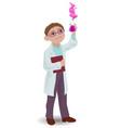 children with a chemist boy vector image