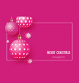 christmas bright pink baubles vector image vector image