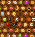Collection of halloween candy sweet vector image