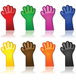 Color hands vector image vector image