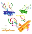 Colorful planes set vector image