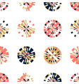 creative digital pixels in circle form seamless vector image