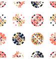 creative digital pixels in circle form seamless vector image vector image