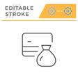 credit card saving editable stroke line icon vector image vector image