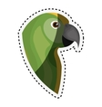 cute parrot isolated icon vector image vector image