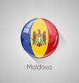 European flags set - Moldova vector image