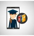 girl app education online books learning vector image vector image