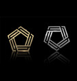 gold and silver pentagon 4 vector image vector image