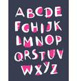 grunge style alphabet handwritten font vector image vector image