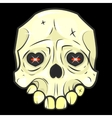 halloween skull Isolated vector image