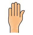 hand human language icon vector image vector image