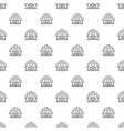 horse barn pattern seamless vector image vector image
