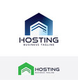 hosting logo design vector image