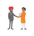 intercultural businessmen shaking hands vector image vector image