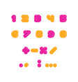 kids multicolored set rounded bolld numbers vector image