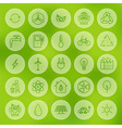 Line Circle Web Ecology Energy Power Icons Set vector image vector image