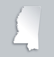 Map of Mississippi vector image vector image