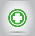 medical health icon medicine hospital plus sign vector image