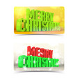 merry christmas banners concept vector image vector image