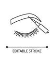 microblading eyebrows linear icon vector image vector image